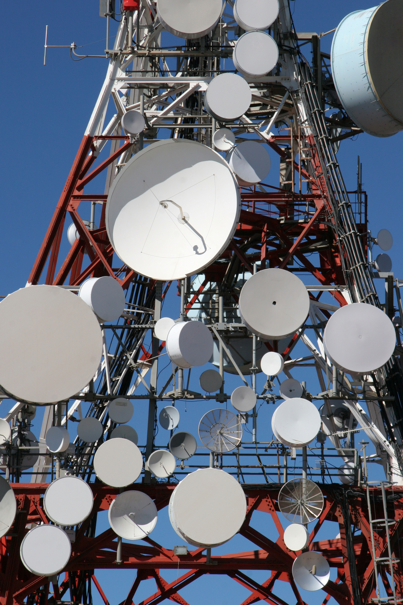 Microwave Telecommunications Relay Dishes